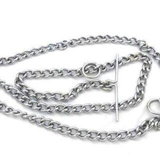 tainless Steel Dog Leash Choke Chain for Large Dogs with Strong Hook